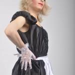 Blonde tranny maid