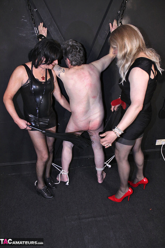 mistress jenny beats her sissies ass down in the dungeon