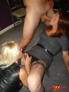 Kinky couple fuck horny crossdresser