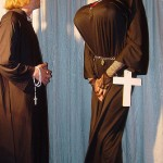 Nun on her knees sucking dick