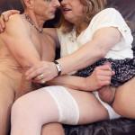 Slut in white sucking dick