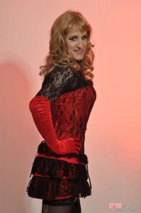 Tgirl stunner in kinky lingerie
