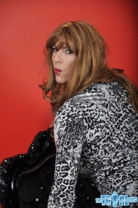 Crossdresser Emily shows her big bulge