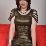 Tgirl in stockings gets her dick out